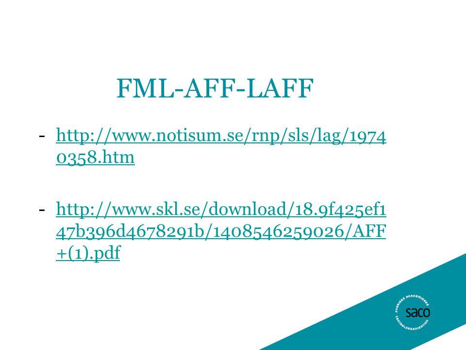 FML-AFF-LAFF -http://www.notisum.se/rnp/sls/lag/1974 0358.htmhttp://www.notisum.se/rnp/sls/lag/1974 0358.htm -http://www.skl.se/download/18.9f425ef1 47b396d4678291b/1408546259026/AFF +(1).pdfhttp://www.skl.se/download/18.9f425ef1 47b396d4678291b/1408546259026/AFF +(1).pdf
