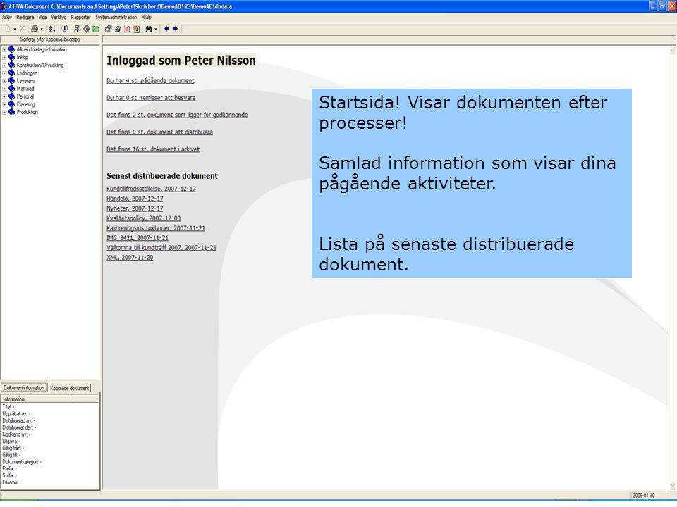 Här finns dina dokument som du skall skicka på remiss, godkännande mm.