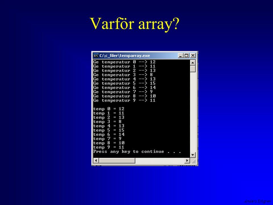 Anders Sjögren Varför array