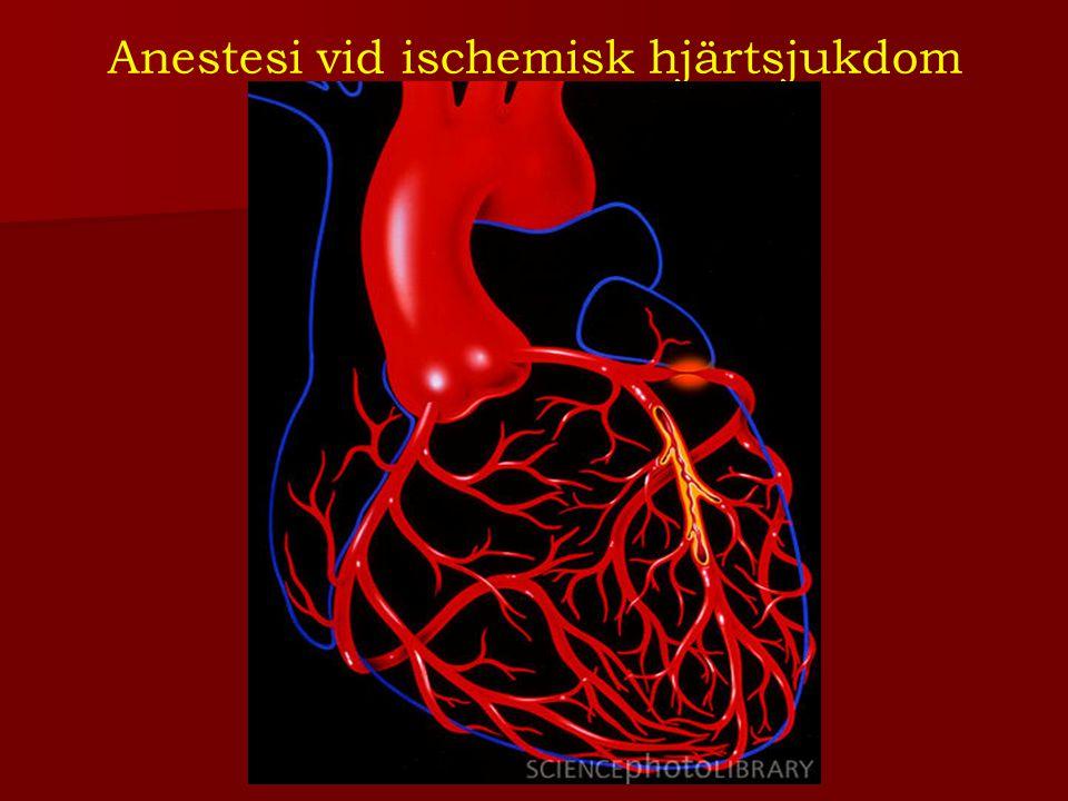 Postoperativt De flesta perioerativa infarkterna sker postoperativt.
