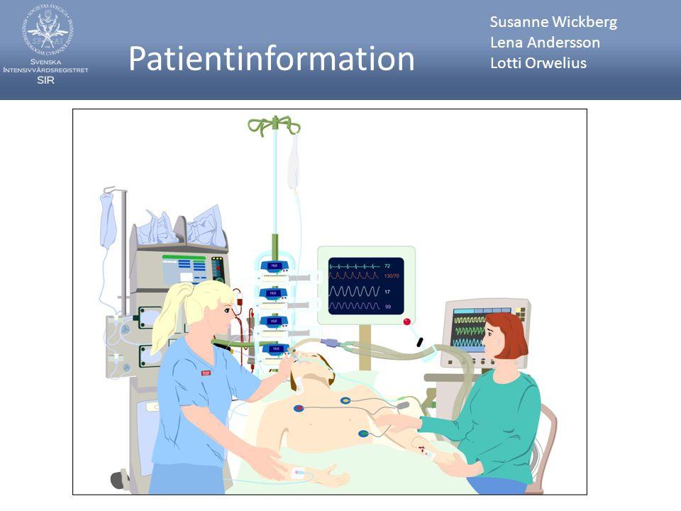 Webbsidans flik För patienter vänder sig till de som kommit i kontakt med vården på en intensivvårdsavdelning som patient, närstående eller besökare i något sammanhang.