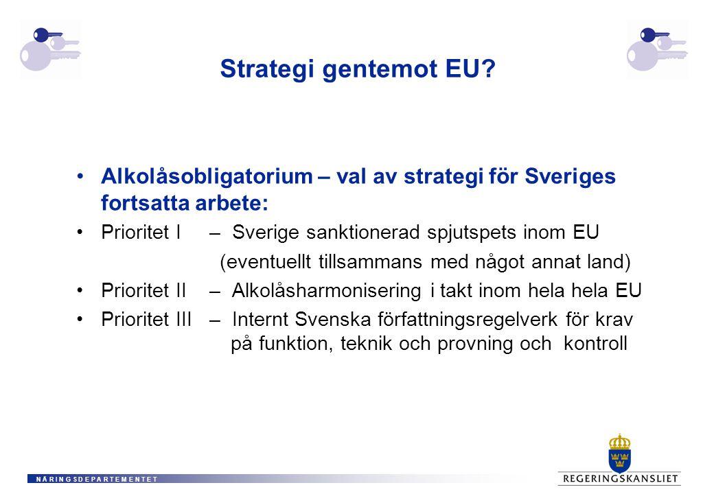 N Ä R I N G S D E P A R T E M E N T E T Strategi gentemot EU.