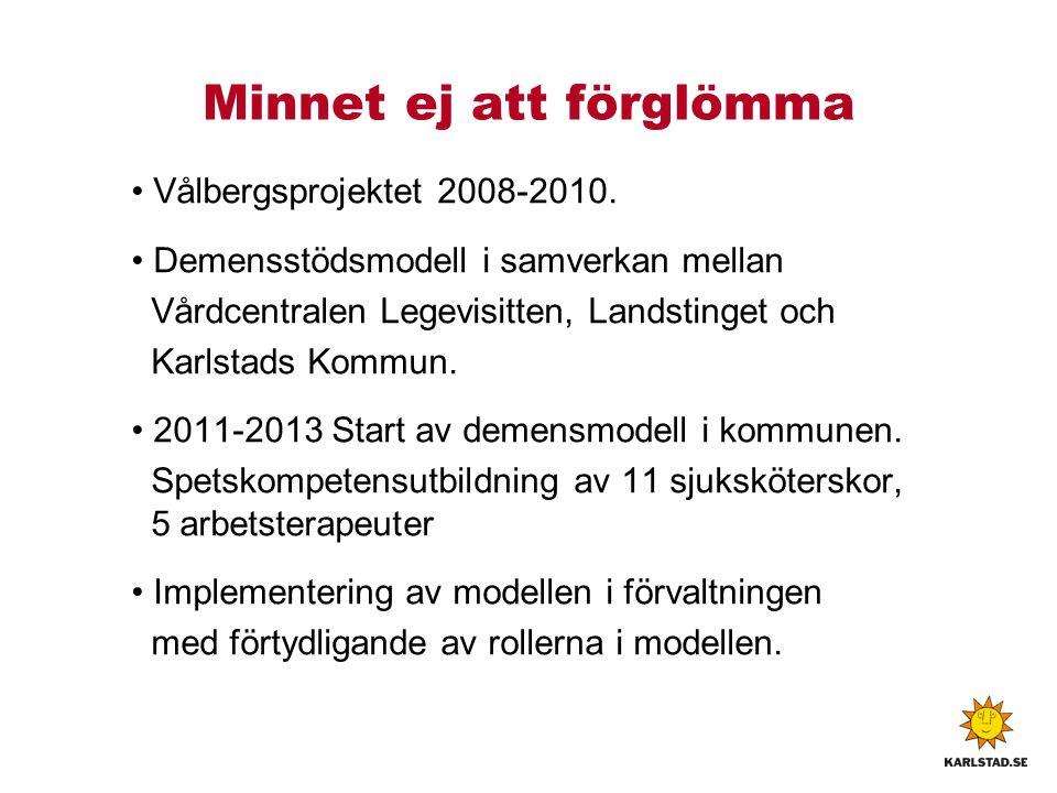 Minnet ej att förglömma Vålbergsprojektet 2008-2010.