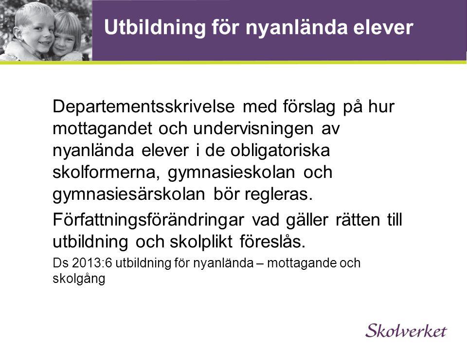Reformpaket för nyanlända Förlängd skolplikt Ett år i förberedelseklass Prioriterad timplan för mer svenska Satsning på fler lektioner i svenska