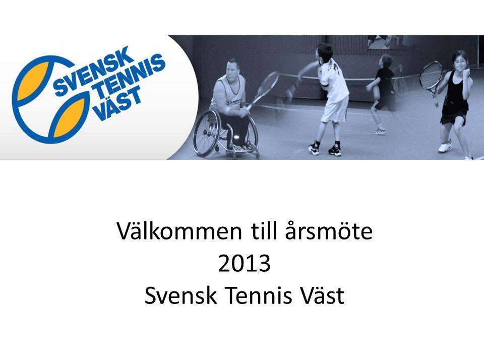Välkommen till årsmöte 2013 Svensk Tennis Väst