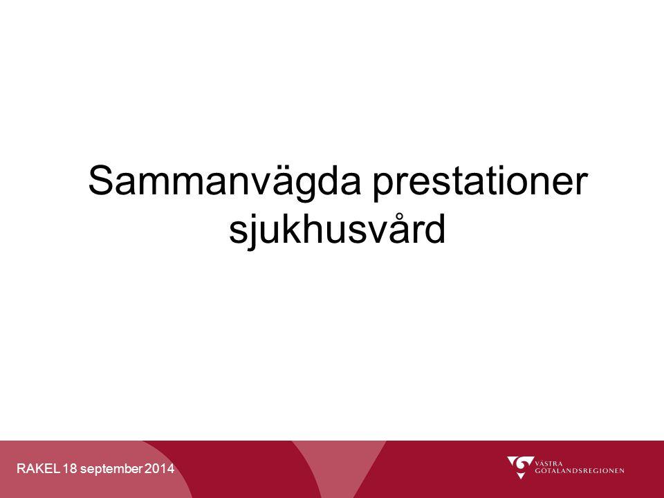 RAKEL 18 september 2014 Sammanvägda prestationer sjukhusvård