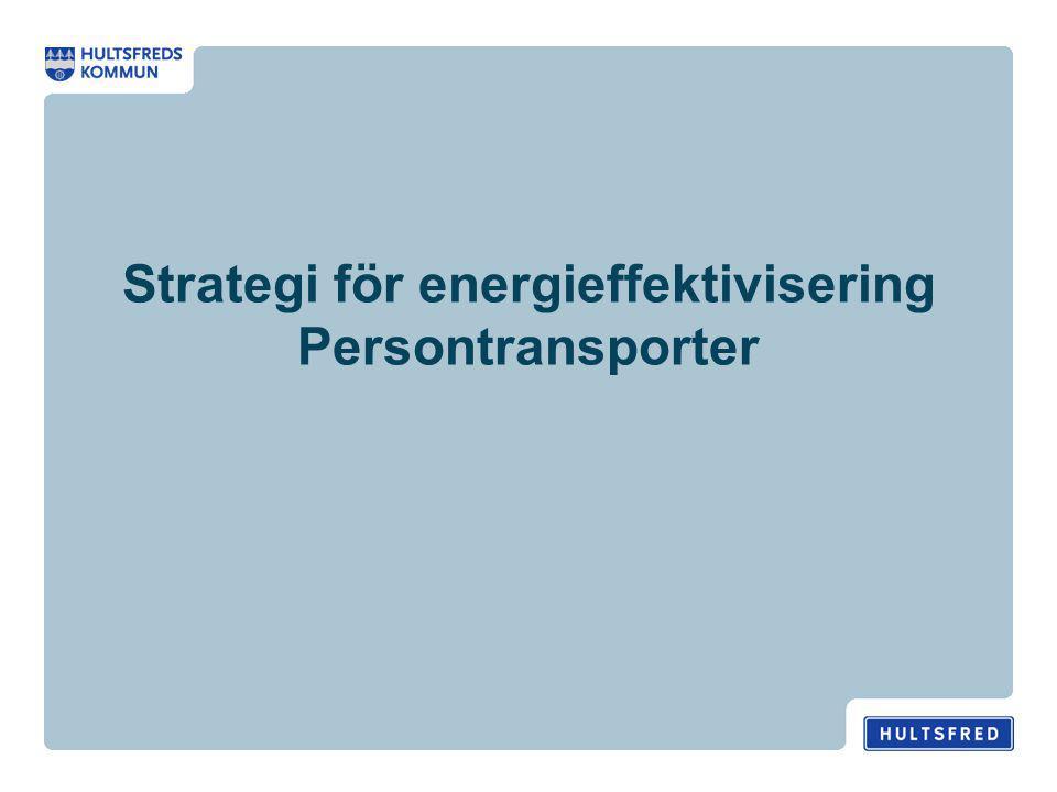 Strategi för energieffektivisering Persontransporter