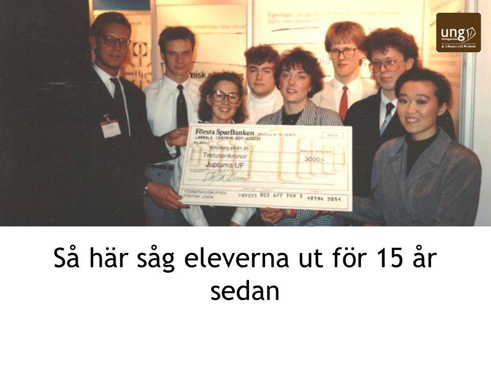 Så här såg eleverna ut för 15 år sedan