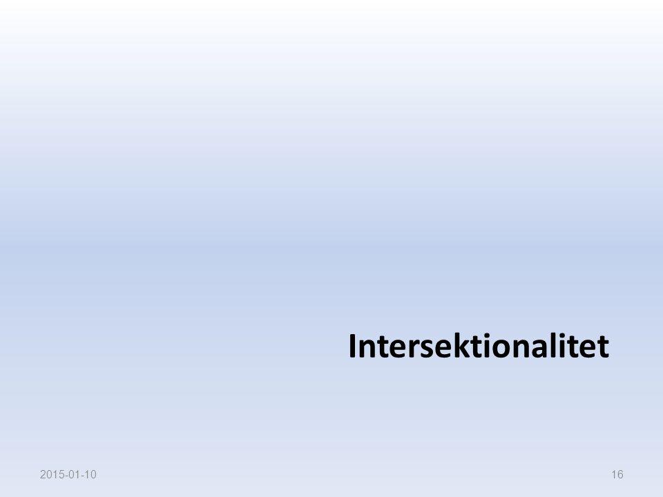 Intersektionalitet 2015-01-1016