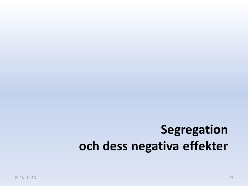 Segregation och dess negativa effekter 2015-01-1024