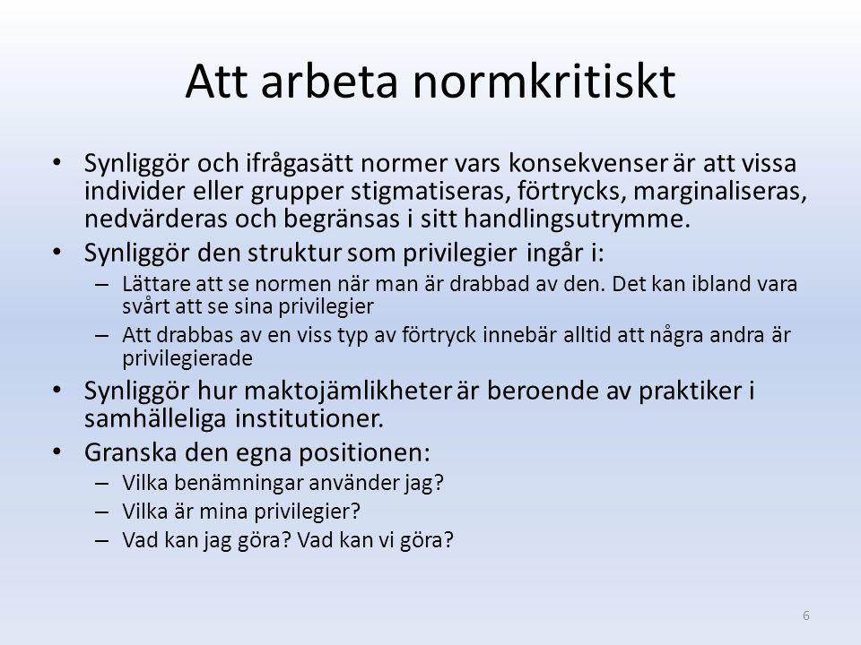 Vi och dem som norm 2015-01-107