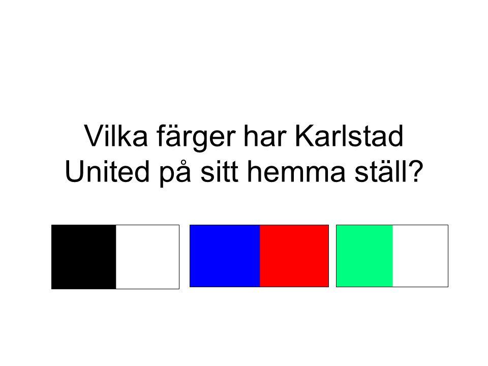 Vilka färger har Karlstad United på sitt hemma ställ