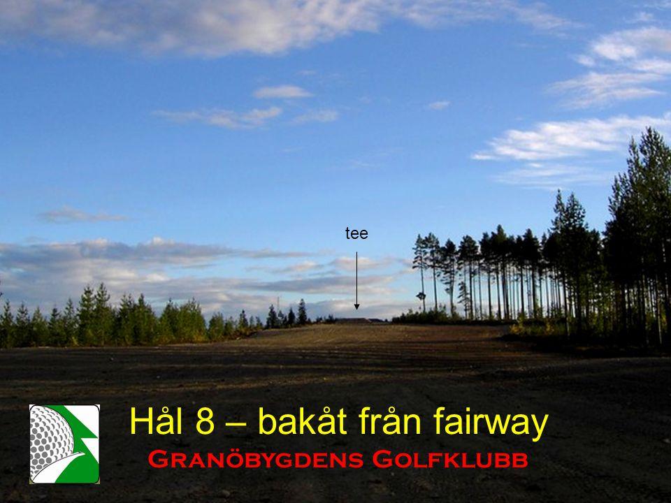 Hål 8 – bakåt från fairway Granöbygdens Golfklubb tee
