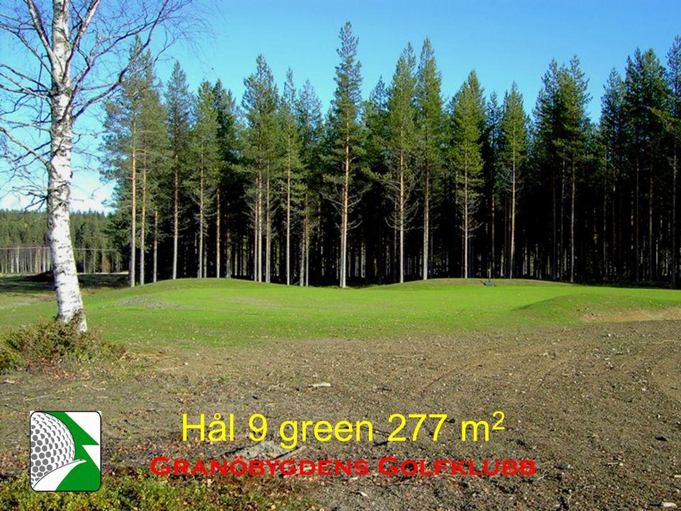 Hål 9 green 277 m 2 Granöbygdens Golfklubb