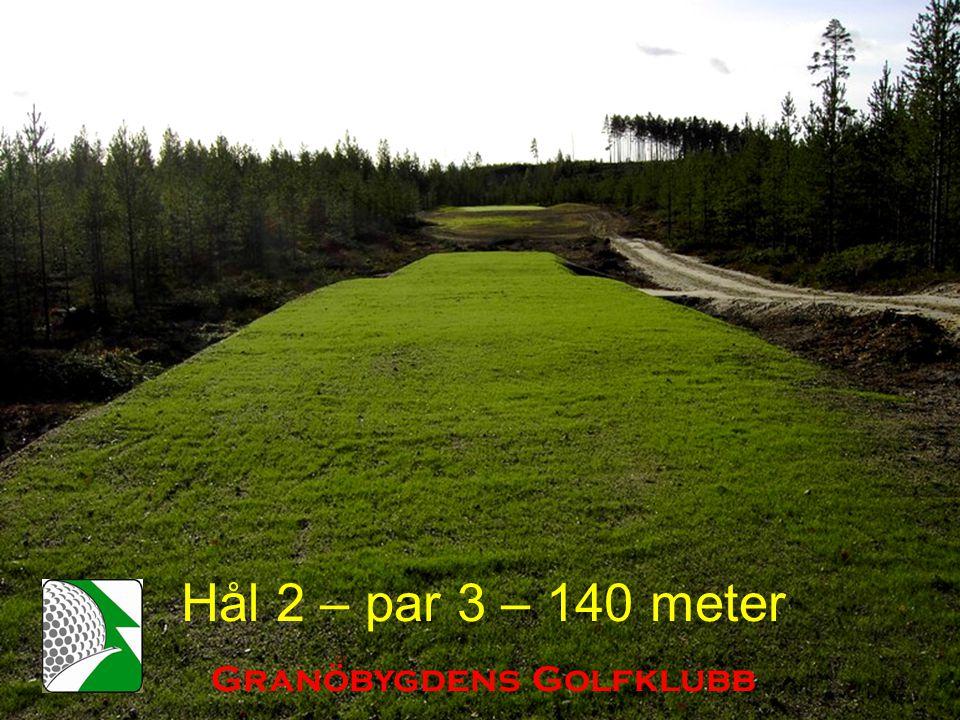 Hål 2 – par 3 – 140 meter Granöbygdens Golfklubb