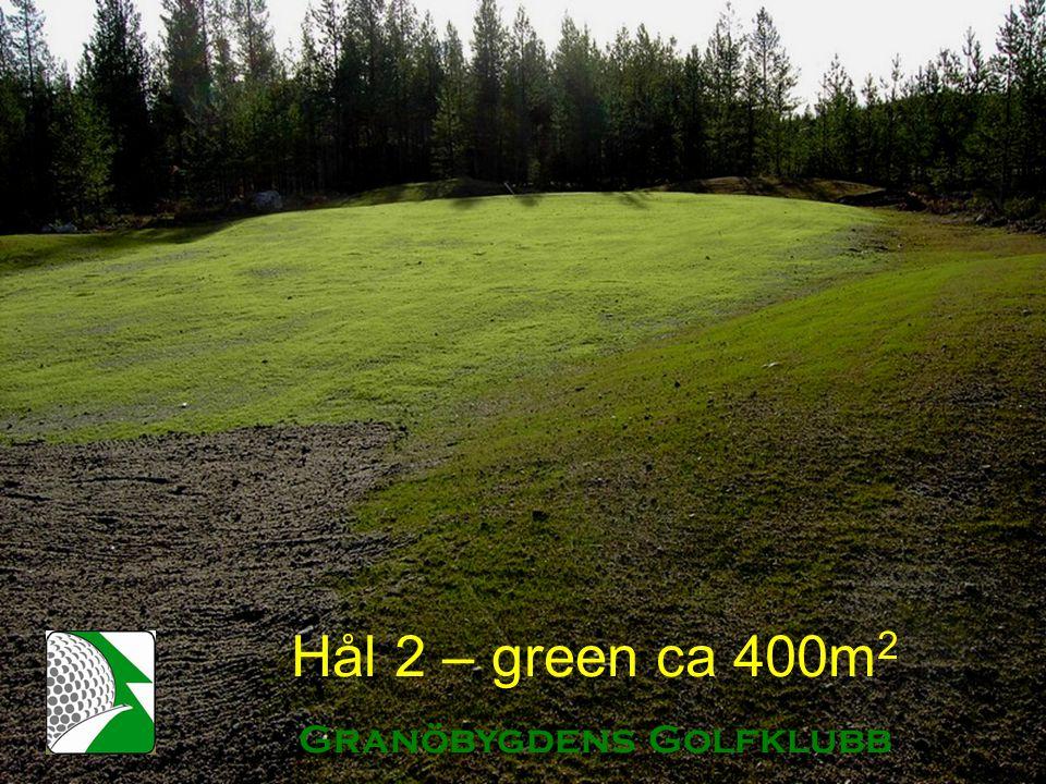 Hål 2 – green ca 400m 2 Granöbygdens Golfklubb