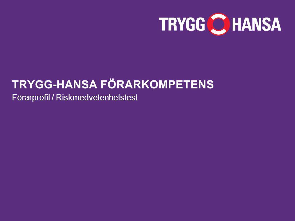 TRYGG-HANSA FÖRARKOMPETENS Förarprofil / Riskmedvetenhetstest