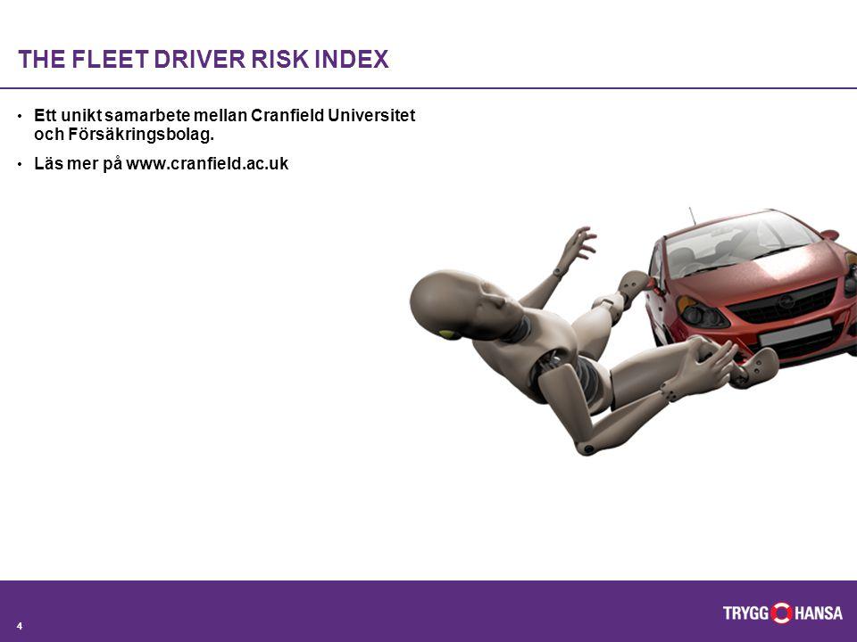 THE FLEET DRIVER RISK INDEX Ett unikt samarbete mellan Cranfield Universitet och Försäkringsbolag.
