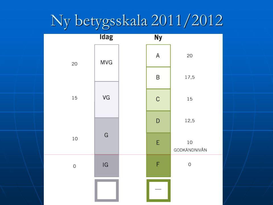 Ny betygsskala 2011/2012