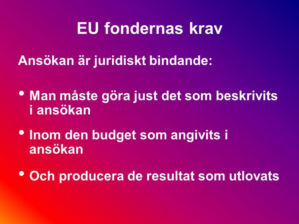 EU fondernas regler och krav