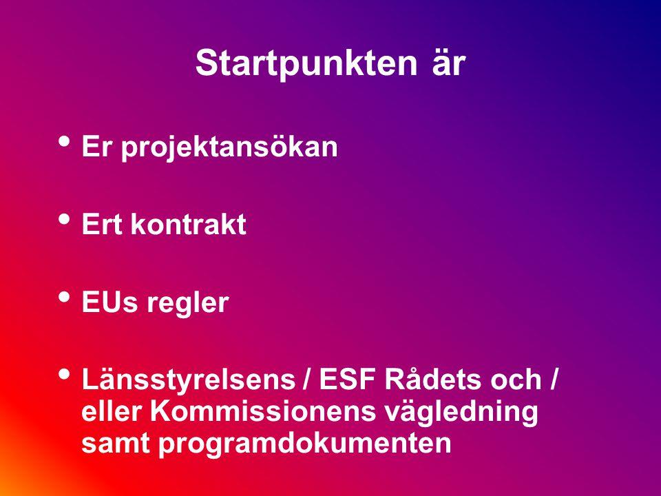 Villkoren för EU fonder EU-projekt revideras noggrannare än andra projekt och Strukturfondsprojekt särskilt noga och ofta