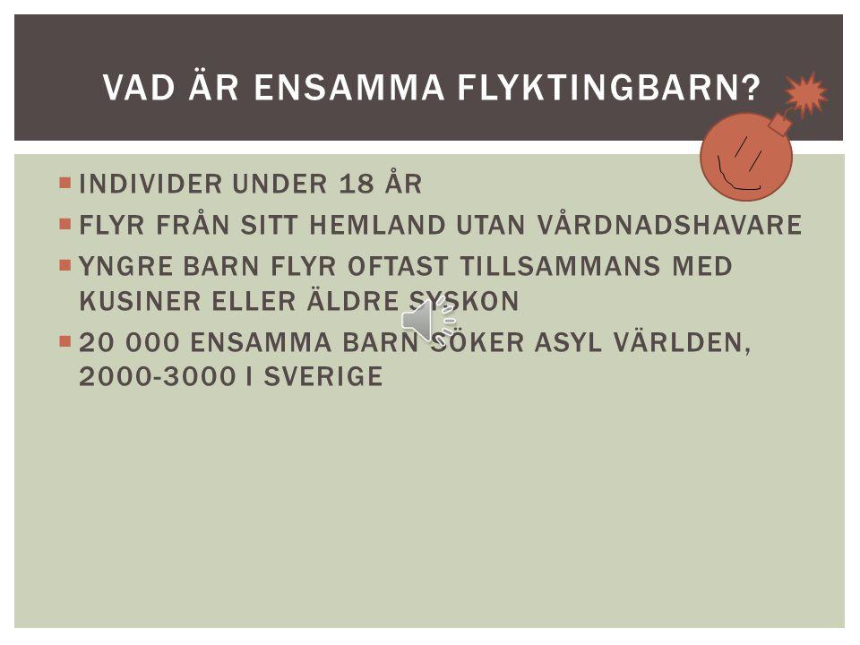 OLIVIA, LINNÉA MOA, ALVA & LINN ENSAMMA FLYKTINGBARN