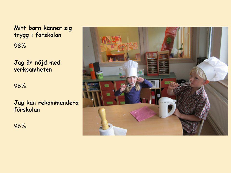 Rälsen i Viby hade bättre resultat än snittet i Sollentuna på samtliga frågor!