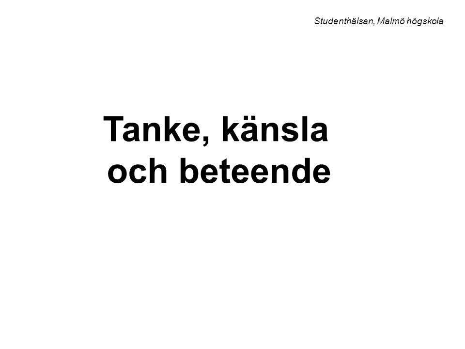 Tanke, känsla och beteende Studenthälsan, Malmö högskola