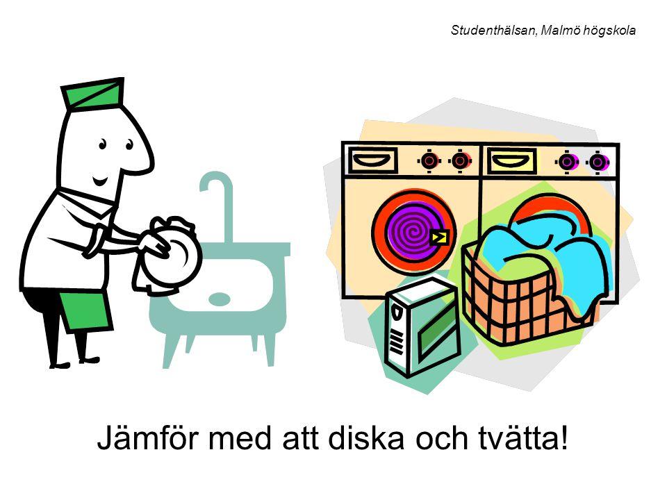 Jämför med att diska och tvätta! Studenthälsan, Malmö högskola