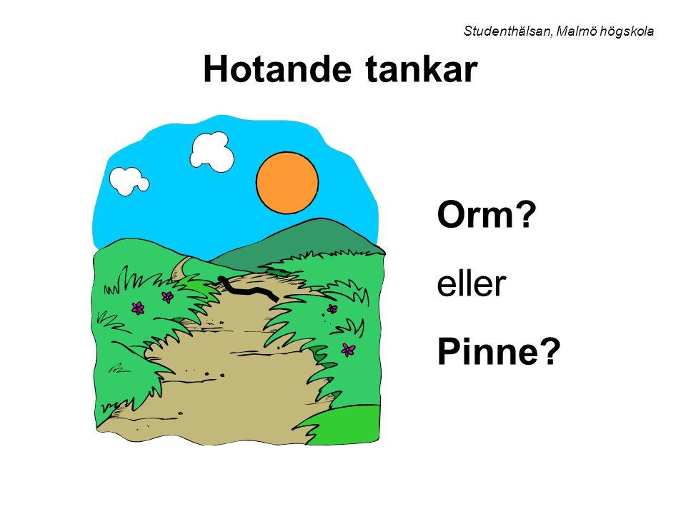 Hotande tankar Orm? eller Pinne? Studenthälsan, Malmö högskola