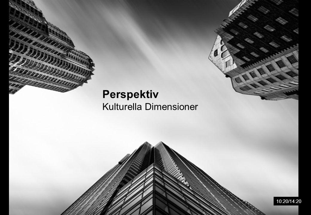 Perspektiv Kulturella Dimensioner 10:20/14:20