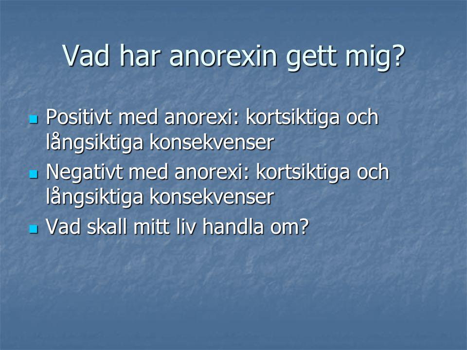 Vad har anorexin gett mig.