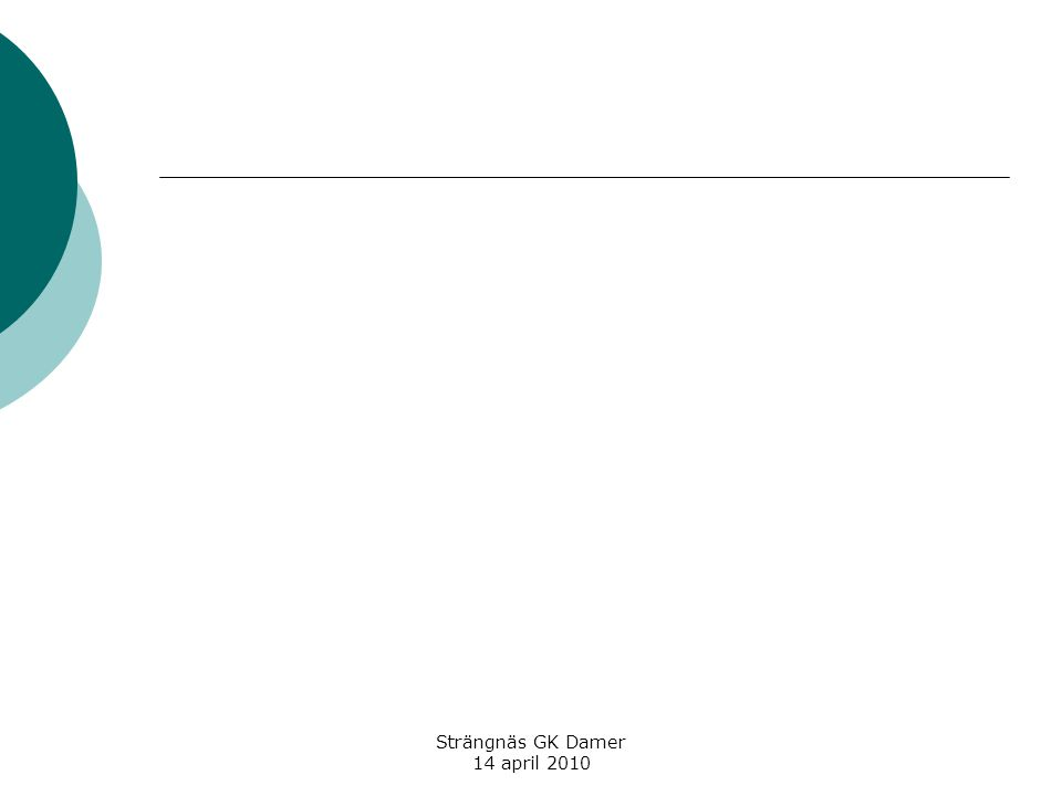 Strängnäs GK Damer 14 april 2010  I varje självvald situation ska DU välja perspektiv själv.