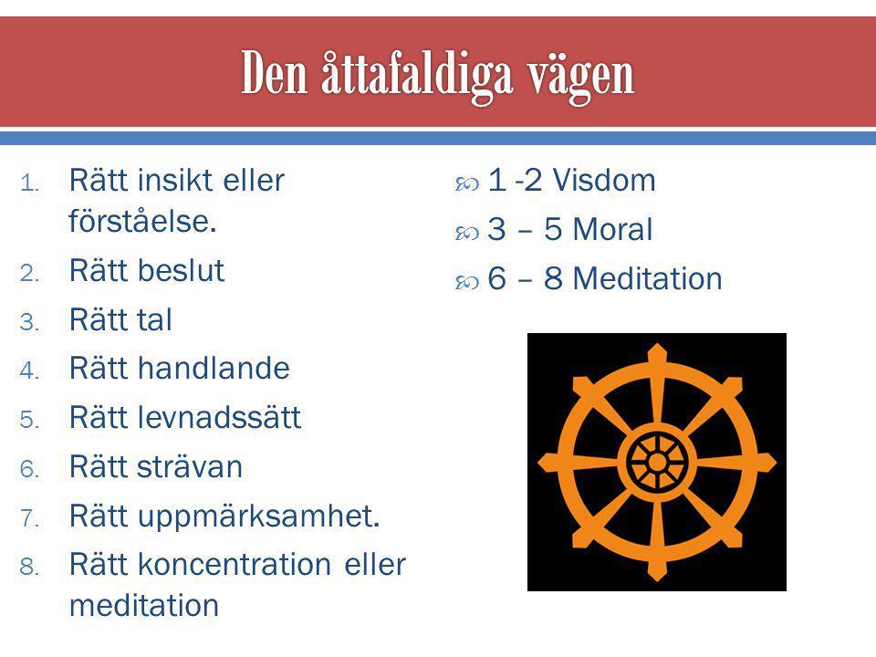 1.Rätt insikt eller förståelse. 2. Rätt beslut 3.