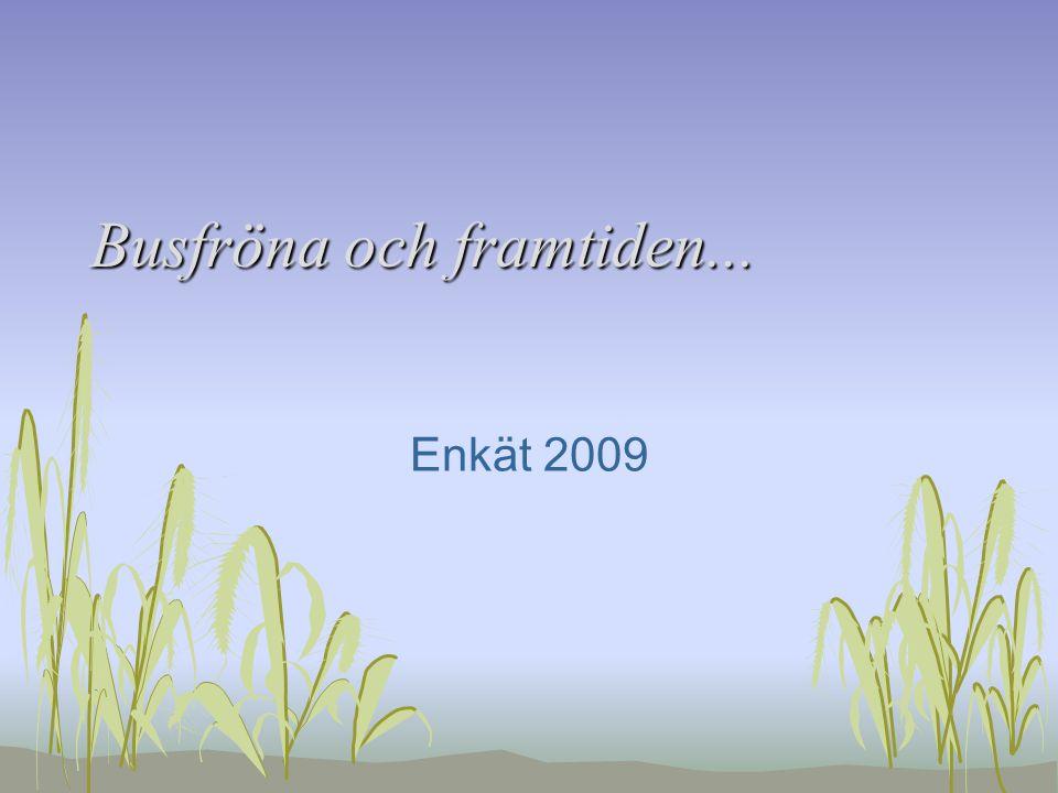 Busfröna och framtiden... Enkät 2009