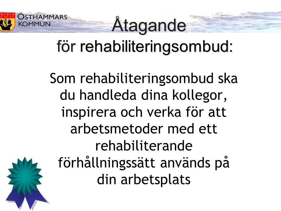 Som rehabiliteringsombud ska du handleda dina kollegor, inspirera och verka för att arbetsmetoder med ett rehabiliterande förhållningssätt används på