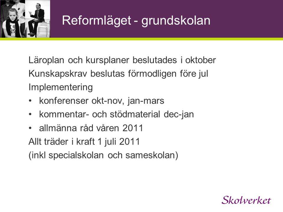 Läroplan för grundskolan 2011 (Lgr11) 1.Skolans värdegrund och uppdrag 2.