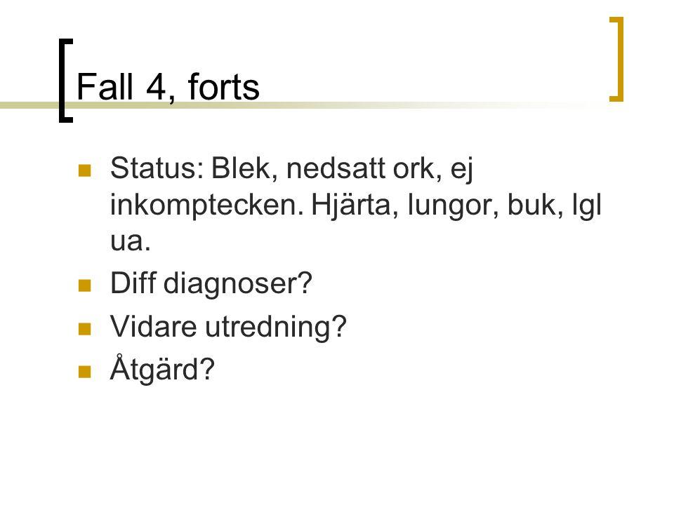 Fall 4, forts Status: Blek, nedsatt ork, ej inkomptecken.