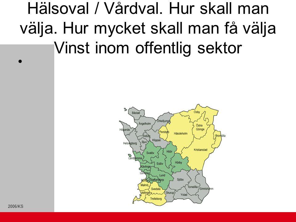 2006/KS Hälsoval / Vårdval. Hur skall man välja. Hur mycket skall man få välja Vinst inom offentlig sektor