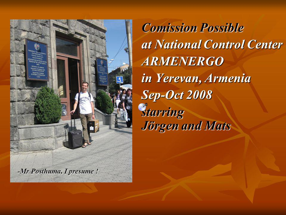 Entrance at National Control Center ARMENERGO in Yerevan, Armenia meeting …