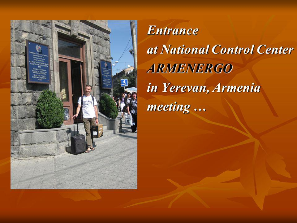 Entrance at National Control Center ARMENERGO in Yerevan, Armenia meeting …