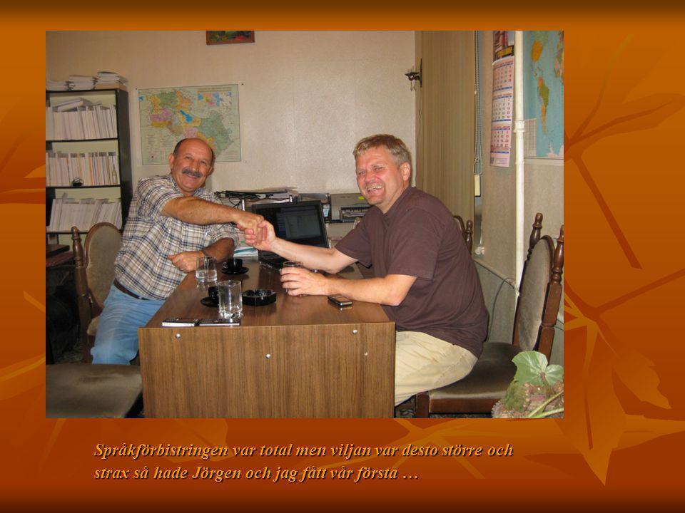 Språkförbistringen var total men viljan var desto större och strax så hade Jörgen och jag fått vår första …