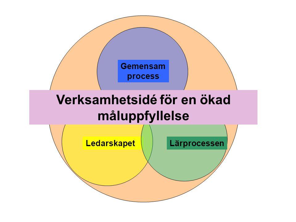 Gemensam process LedarskapetLärprocessen Verksamhetsidé för en ökad måluppfyllelse