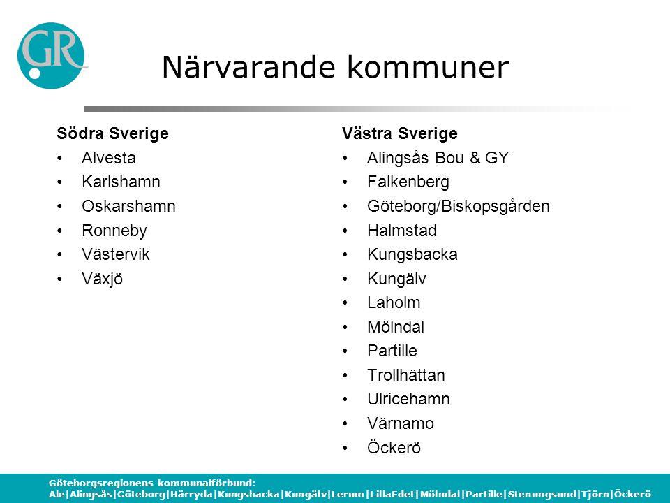 Göteborgsregionens kommunalförbund: Ale|Alingsås|Göteborg|Härryda|Kungsbacka|Kungälv|Lerum|LillaEdet|Mölndal|Partille|Stenungsund|Tjörn|Öckerö Program Skoldatateksdag 080523 08.30-14.00 08.30 Genomgång av dagen 08.45Espresso halva gruppen Smartboard halva gruppen 10.00Fika i Utställningen 10.30Espresso och Smartboard 11.45Lunch 12.45Jämförelse av interaktiva tavlor Gruppsamtal 13.30Återsamling och fika