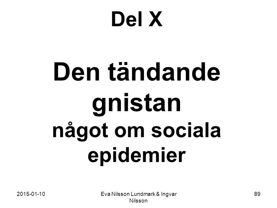 2015-01-10Eva Nilsson Lundmark & Ingvar Nilsson 89 Del X Den tändande gnistan något om sociala epidemier