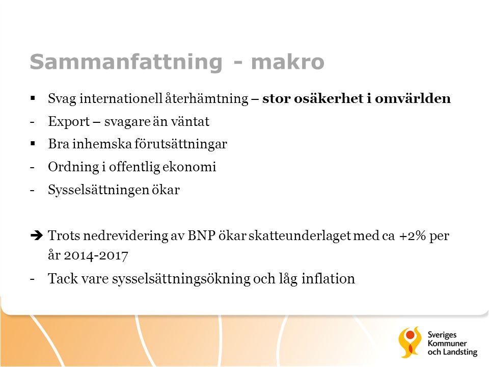 Källa: Statistiska centralbyrån och Sveriges Kommuner och Landsting.