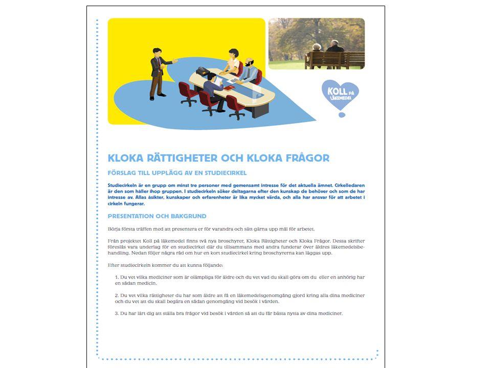 Beställa Kloka frågor, Kloka rättigheter, cirkelhandledning: www.spf.se www.kollpalakemedel.se