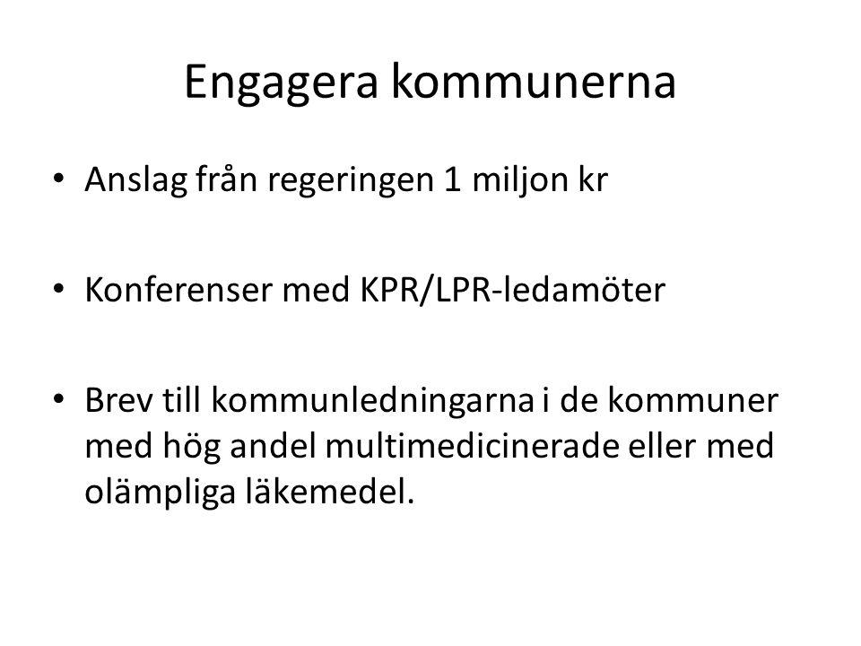 Engagera kommunerna Anslag från regeringen 1 miljon kr Konferenser med KPR/LPR-ledamöter Brev till kommunledningarna i de kommuner med hög andel multi