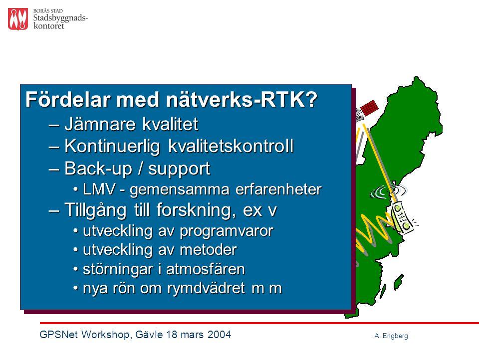 Vad är bättre med nätverks-RTK. nätverks-RTK?Fördelar.