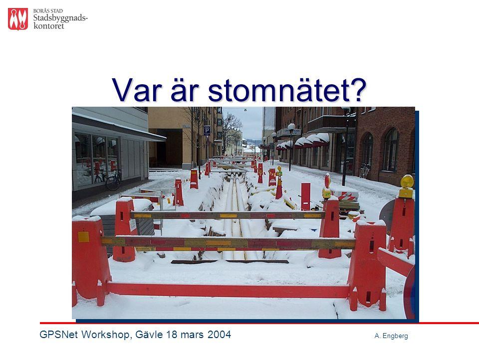 Var är stomnätet? GPSNet Workshop, Gävle 18 mars 2004 A. Engberg